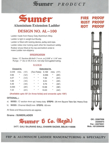Aluminium Extension Ladder in  Chawri Bazar