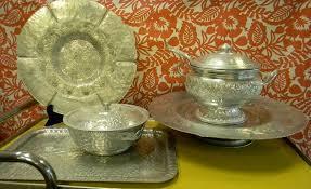 Brass Designer Dining Set