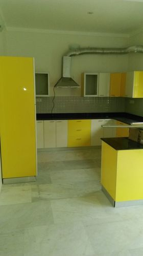 New Design Yellow Wood Modular Kitchen In Krishnanagar West Bengal