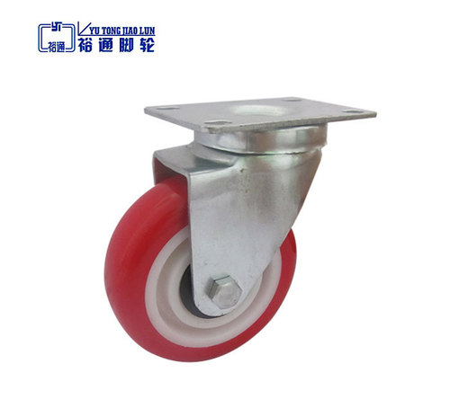 Red TPU Light Duty Castor Wheel