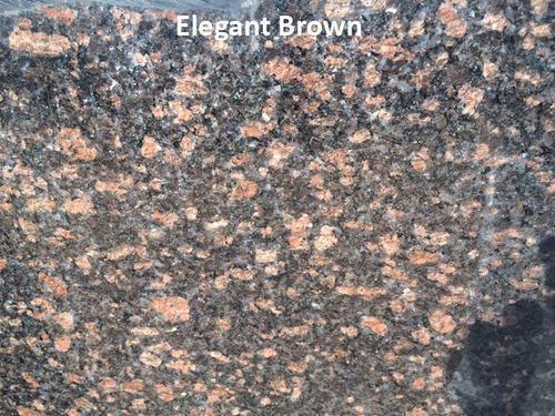 Elegant Brown Granite Slab