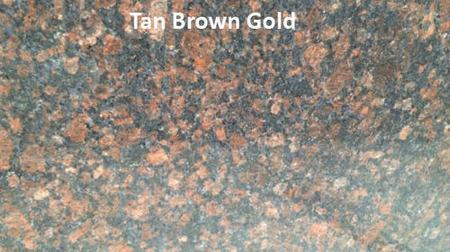 Tan Brown Gold Granite Slab
