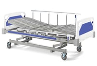 Manual Bed with Folding Safety Rails