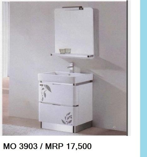 Mo 3903 White Ceramic Designer Wash Basin Cum Cabinet Furniture