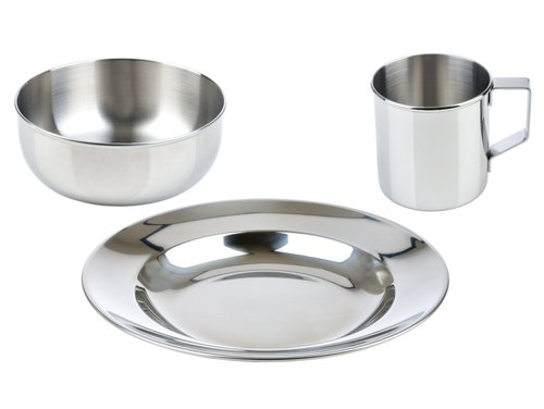Stainless Steel Dinner Plate Set