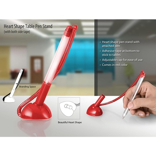 Heart Shape Table Pen Stand