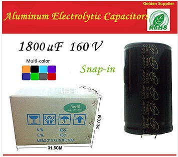 1800uF 160V Snap-in Type 35*40mm Aluminum Electrolytic Capacitors