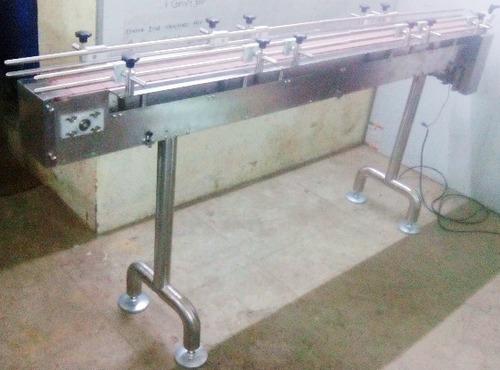 Plastic Slat Belt Conveyor in  General Block