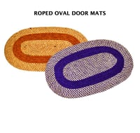 Rope Plaited Oval Door Mats