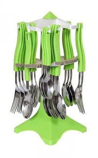 Stainless Steel Plastic Cutlery Set