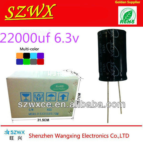 22000uf 6.3v Aluminum Electrolytic Capacitor in   Baoan District