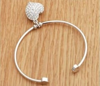 Silver Plated Valentine Heart Cut-out Love Bracelet
