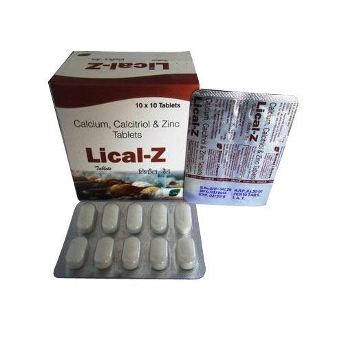 Calcium Calcitriol And Zinc Tablets Lion Healthcare Plot No 550