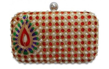 Handmade Box Clutch Bag with Sling