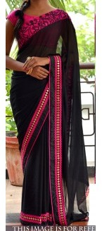 Georgette Black Party Wear Saree