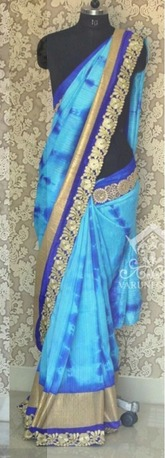 Sky Blue Weightless Party Wear Saree in  Ring Road