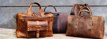 Brown Leather Bags in  Okhla - I