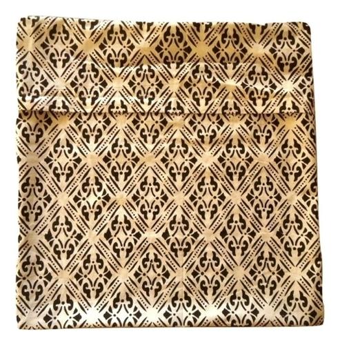 Black Hand Block Printed Cushion Covers