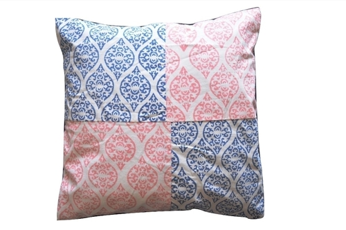Multi Coloured Cotton Hand Block Printed Cushion Covers