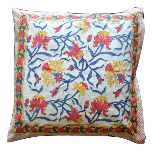 Multi Coloured Hand Block Printed Cushion Covers