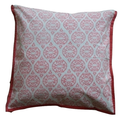 Pink Hand Block Printed Cushion Covers