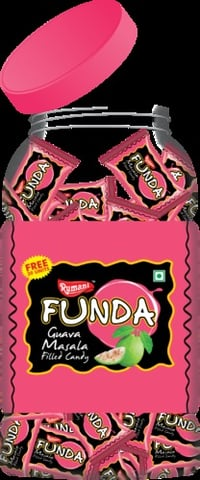 Guava Flavour Masala Filled Candy