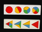 Wooden Educational Fractions