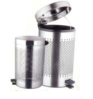 Stainless Steel Perforated Pedestal Dust Bin