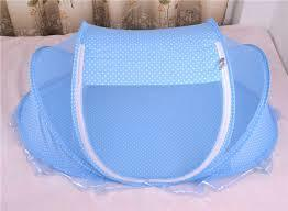 Sky Blue Foldable Baby Mosquito Net