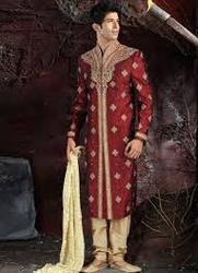 Jacquard Wedding Sherwani