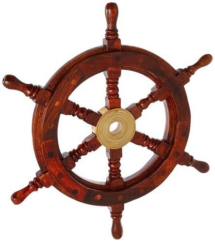 "12"" Brass Ship Wheel"