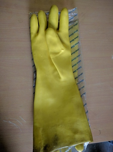 PVC Support Cotton Gloves
