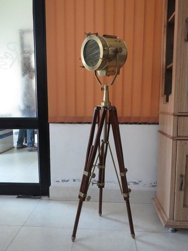 "68"" Antique Search Light With Tripod Stand"