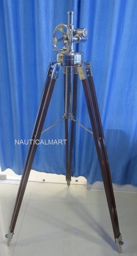 Chrome Black Tripod Floor Lamp Stand