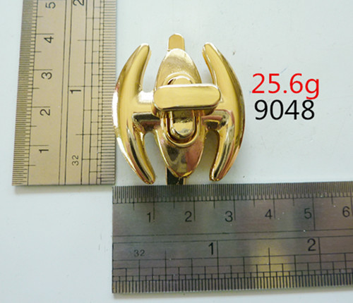 Gold Hardware Metal Twist Locks For Handbags And Purse