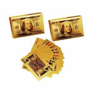 Gold Plated Playing Card