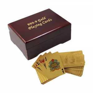 Gold Plated Playing Card With Box