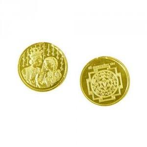 Lagna Yog Yantra Coin In Copper Gold Plated
