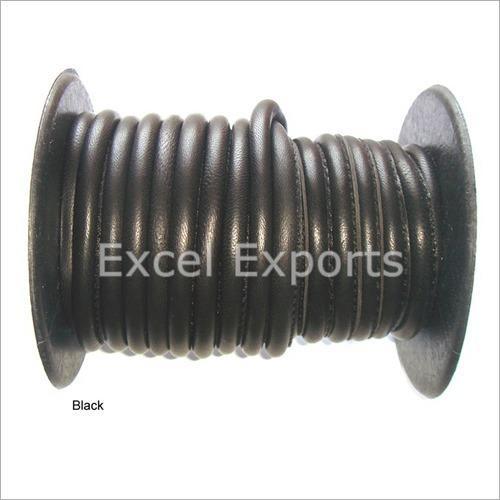 Side Stitch Pure Leather Black Cord