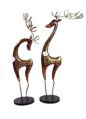 Wooden Deer Sculpture