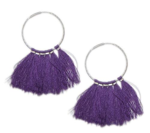 Silver Circle Earrings in  Sitapura Indl. Area