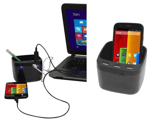 Usb Hub With Mobile Holder & Speaker