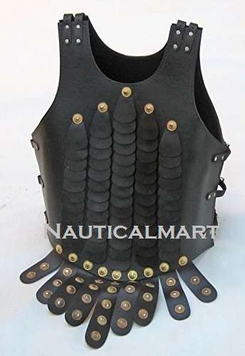 Black Leather Cuirass Jacket
