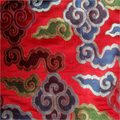Embroidered Tibetan Brocade Fabric