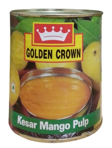 Canned Natural Kesar Mango Pulp