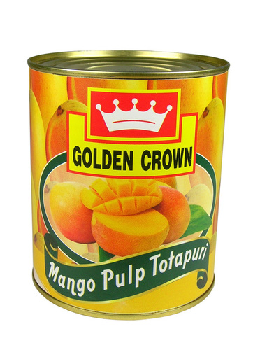 Canned Natural Totapuri Mango Pulp