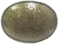 Oval Brass Belt Buckle
