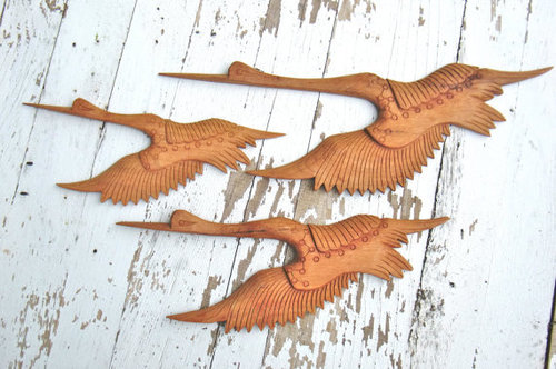 Wooden birds wall art in sundarapuram