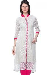 Ladies White Kurti in  Kalkaji