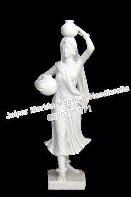 White Marble Ladies Statue